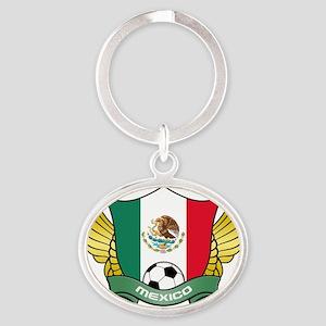 mexico-soccer Oval Keychain