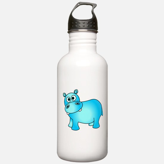 Cute Pink Baby Hippo Water Bottle