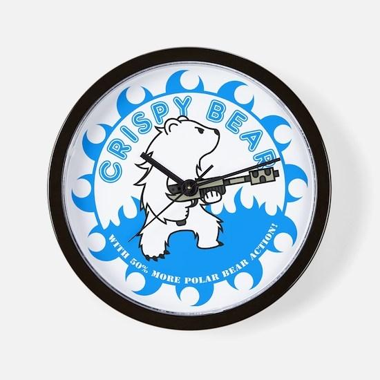 crispy_bear_blue Wall Clock
