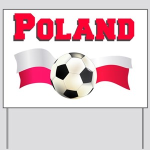 Polish Soccer Shirt Yard Sign