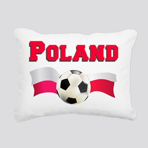 Polish Soccer Shirt Rectangular Canvas Pillow