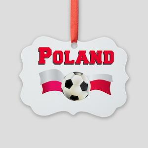 Polish Soccer Shirt Picture Ornament