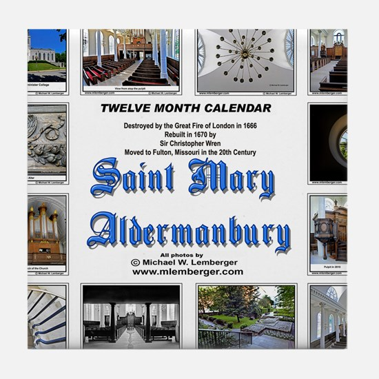 13-Cover for Wren Church done Tile Coaster
