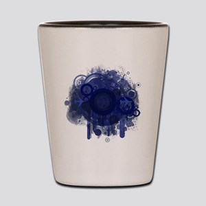 Blue Abstract Design #1 Shot Glass