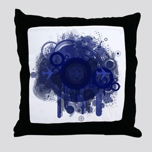 Blue Abstract Design #1 Throw Pillow