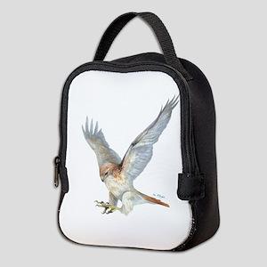 Striking Red-Tail Hawk Neoprene Lunch Bag