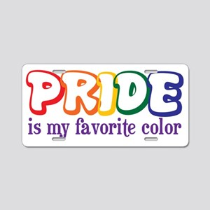 PrideColors Aluminum License Plate