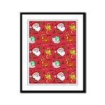 Santa, Reindeer, Cookies Framed Panel Print