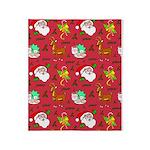 Santa, Reindeer, Cookies Throw Blanket