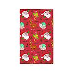 Santa, Reindeer, Cookies 3'x5' Area Rug