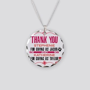 Thank you Stephanie and Kath Necklace Circle Charm