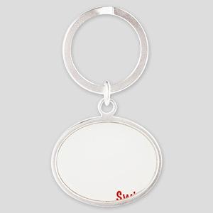 04_Swiss_10x10_wc Oval Keychain