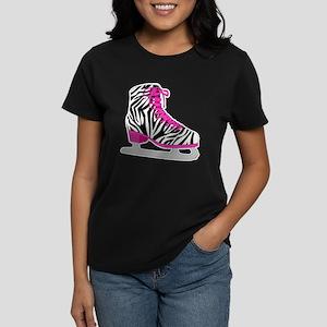 Zebra Pink and Black Ice Skate T-Shirt