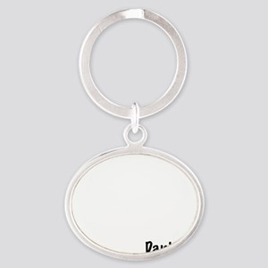 12_Danish_10x10_wc Oval Keychain