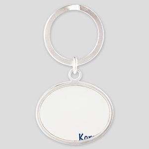 09_Korean_10x10_wc Oval Keychain