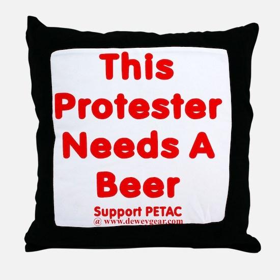PetacNeedsA Throw Pillow
