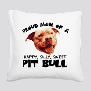 happysillysweet Square Canvas Pillow