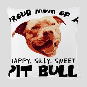 happysillysweet Woven Throw Pillow