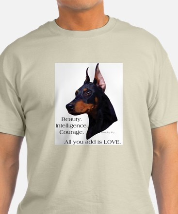 Dobe-Add Love Ash Grey T-Shirt