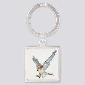 Striking Red-Tail Hawk Keychains