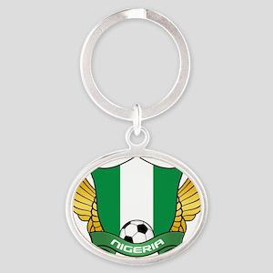 nigeria-soccer Oval Keychain