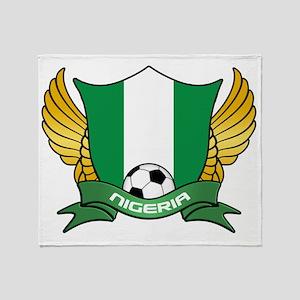 nigeria-soccer Throw Blanket