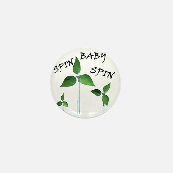 spin baby2 posterinverse Mini Button