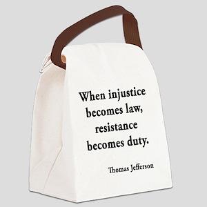 resisdut Canvas Lunch Bag