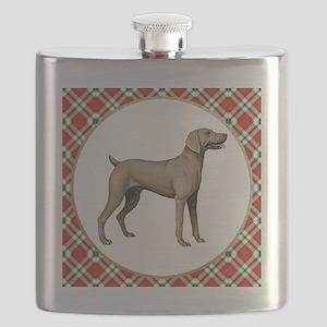 RDORN-weimaraner-christmas Flask