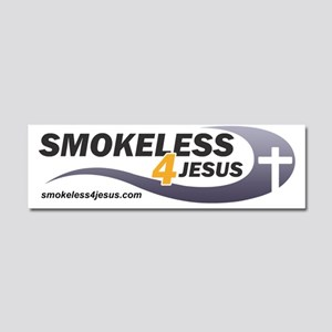 smokeless-black Car Magnet 10 x 3