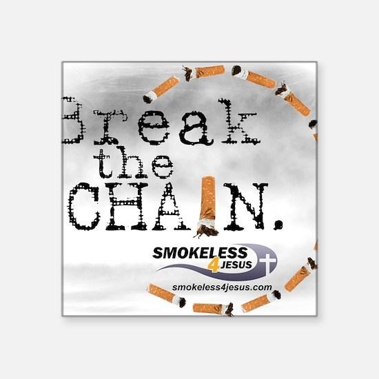 """3-breakthechain Square Sticker 3"""" x 3"""""""