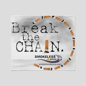 3-breakthechain Throw Blanket