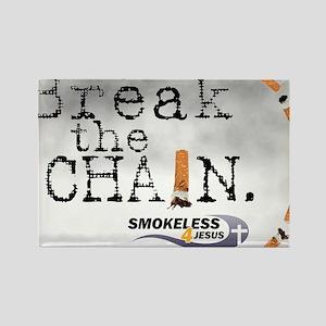 3-breakthechain Rectangle Magnet