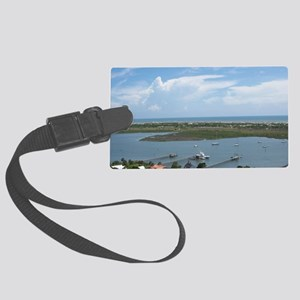 LightHouseView14X10FramedPrint Large Luggage Tag