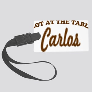 not at the table brown Large Luggage Tag