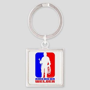 Welder Square Keychain