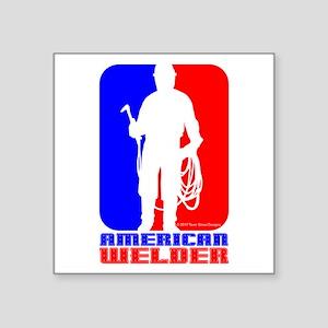 """Welder Square Sticker 3"""" x 3"""""""