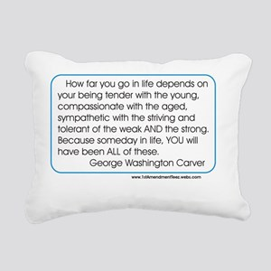 Geo Washington Carver Rectangular Canvas Pillow