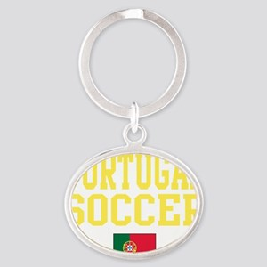 PortugalRED Oval Keychain