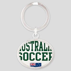 AustraliaWHT Oval Keychain