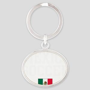 MexicoGRN Oval Keychain