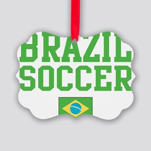 BrazilYELLOW Picture Ornament