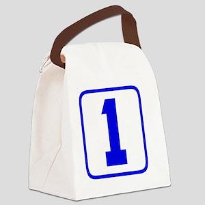 1blue Canvas Lunch Bag