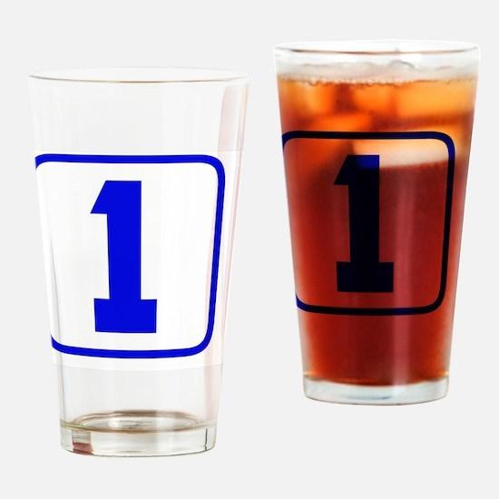 1blue Drinking Glass