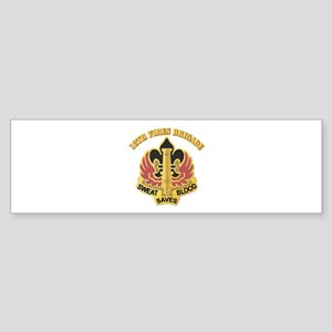DUI - 18th Fires Brigade With Text Sticker (Bumper