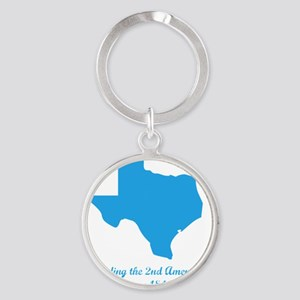 Texas 2nd Amendment Round Keychain