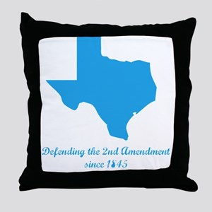 Texas 2nd Amendment Throw Pillow