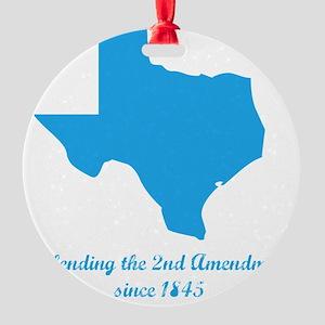 Texas 2nd Amendment Round Ornament