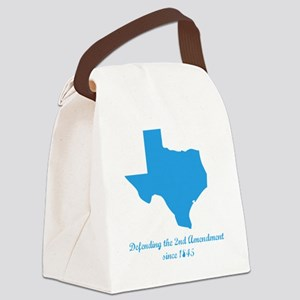 Texas 2nd Amendment Canvas Lunch Bag
