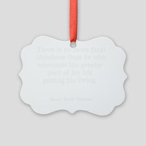 blunderW Picture Ornament